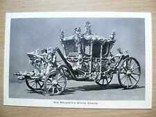 Vintage & Original Postcard- HIS MAJESTY'S STATE COACH, BUCKINGHAM PALACE