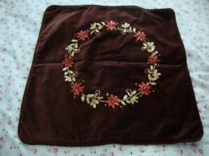 April Cornell New Brown Pillow Cushion Cover RARE Vintage Romantic Princess