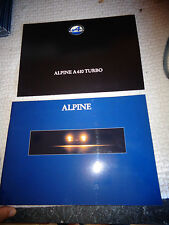 Ancien Double Catalogue Renault Alpine Turbo A610 12.1992 Brochure Prospekt