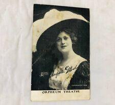 Augusta Glose Postcard 1909 Orpheum Theatre Vtg