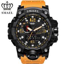 SMAEL Fashion Mens Watch LED Dual Display Digital Sport Wrist Watches Orange【US】