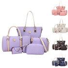 6PCS/Set Women Ladies PU Leather Messenger Shoulder Bag Purse Tote Handbag New