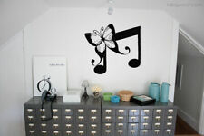 Wall Art Vinyl Sticker Room Decal Mural Decor Music Note Butterfly Cute bo2302