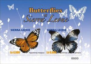 Sierra Leone- Butterflies of Sierra Leone Stamp - S/S MNH