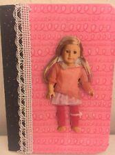 American Girl Doll Isabelle Dancer Custom Made Mini Notebook Journal Pretty Pink
