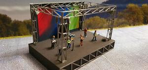 Rockkonzert | Bühne | Sound | Open Air Festival Fertigmodel 1:87 | Lichtshow LED