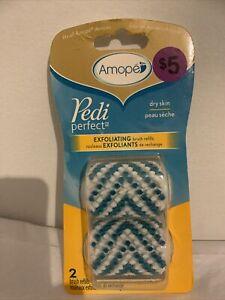 Brand NEW Amope Pedi Perfect Exfoliating Brush Refills 2 Refills AUTHENTIC