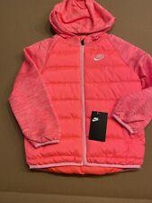 Nike Youth Girls Full Zip Hooded Jacket Pink NWT Size 6X