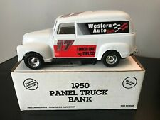 ERTL Western Auto/Darrell Waltrip 1950 Chevy Panel Van Die-Cast Bank #7553 NIB