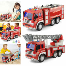 2 x Large Fire Rescue Extinguisher Engine Truck Toys Ladder Tools Model 1/16 Car