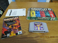Gauntlet Legends (Nintendo 64, 1999) Box & Game & Booklet  Authentic & Tested