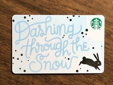 STARBUCKS Gift Card 2018 Bunny DASHING THROUGH THE SNOW Rabbit Cheer No $ Value