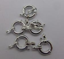 JOBLOT 5x  Sterling Silver 925 Jumbo Bolt Ring Clasp12x3mm Jewellery Findings