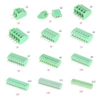 1PCS 2P-16P KF128 2.54mm PCB Universal Screw Terminal Block HF