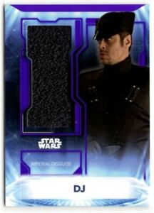 Star Wars Topps 2021 Battle Plans DJ Sourced Fabric Disguise Relic Card 19/25