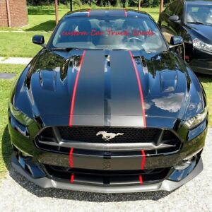 """Ford Mustang 10 INCH Twin Rally 10"""" Graphic Decal Vinyl Sticker 2 COLOR 36 FEET"""