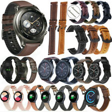 For Samsung Galaxy Watch Active 2 40/44mm Genuine Leather Watch Band Wrist Strap