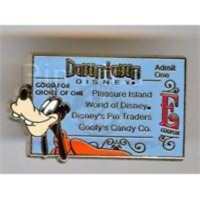 Disney Pin 36438 WDW Cast Exclusive Party 2005 E Ticket Goofy Downtown LE 1500 *