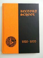 1970 The Rectory School Pomfret Connecticut Original YEARBOOK Annual