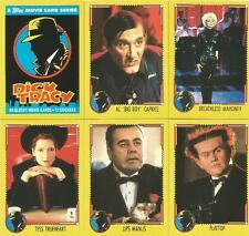Dick Tracy the Movie Full 88 Card Base Set + 11 Sticker Card Set from Topps 1990