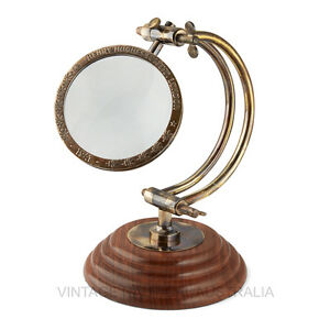 Magnifying Glass - Curved Arm (Henry Hughes) - Vintage World Australia