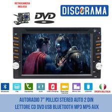 "AUTORADIO 7"" POLLICI STEREO AUTO 2 DIN LETTORE CD DVD USB BLUETOOTH MP3 MP5 AUX"