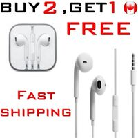 Earphones 3.5mm in-ear Earbud Headphone Ecouteurs volume Mic iPHONE SAMSUNG