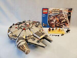 LEGO Star Wars #4504 Millennium Falcon 2004 - 99.9% Complete, Minifigs, Instruct