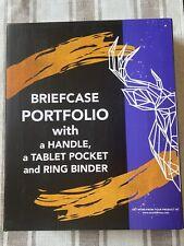 Wundermax Portfolio Briefcase Padfolio 3 Three Ring Binder Document Organizer