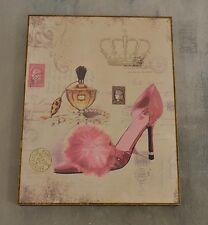 Schuh Shabby Wandbild Nostalgie Vintage Neu Retro Motiv Bild 36x46cm Schild Chic