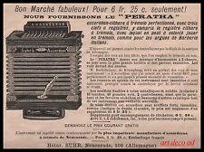 Publicité Accordeon SUHR'S Musique Piano Instrument de Musique  vintage  ad 1897