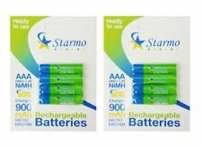 8 x Starmo AAA MN2400 900mAh HR03/1.2V Rechargeable Batteries NiMH Ready To Use