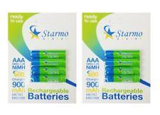 8 X starmo AAA MN2400 900mAh HR03/1.2V Baterías Recargables NiMH Listo Para Usar