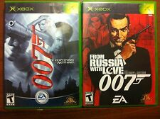 2 Xbox games 007 Everything or Nothing & From Russia with Love 007 w books XBOX