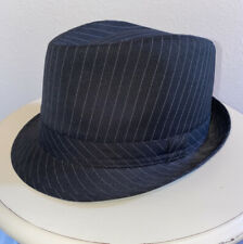Lids Fedora Midnight Black Pinstripes Hat Size Small/Medium NWOT