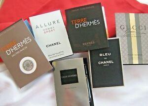 MEN, Dior, Chanel, Gucci, Hermes Sample VIAL Mix Select: