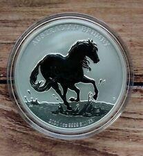 2020 Perth Mint Australian Brumby 1oz Silver Bullion coin in capsule