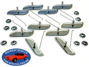 "Ford 1""-2 1/4"" Body Fender Door Quarter Trim Moulding Molding Clips Nuts 10pcs E"