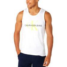 Calvin Klein Jeans Mens U-Neck Logo Tank Top White L,XL 2XL Red XL Black XL $35