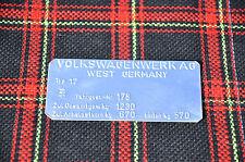 Typenschild VW Golf 1 Volkswagen mk1 NEU !!! TOP !!! 1977/1978 Bj. GTI GLS LS GL