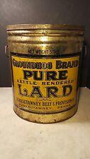 Antique Punxsutawney Pa Groundhog Brand Lard Can Tin Advertising