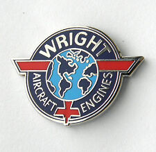 WRIGHT AIRCRAFT ENGINES AVIATION LAPEL PIN BADGE 3/4 INCH