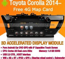 Android Car DVD Player for Toyota Corolla 2014 2015 Auto Radio GPS Navigation 3G