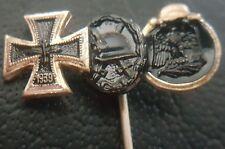 ✚7905✚ German post WW2 1957 pattern miniature pin badge Iron Cross Wound Badge