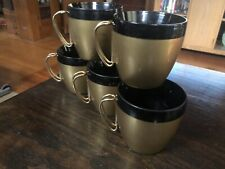Vintage Set of 5 Thermo Melamine Mugs Tumblers Cups NFC Retro Midcentury Modern