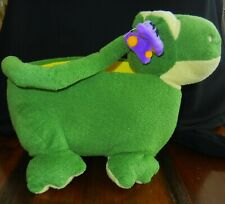 Adorable Frog Plush Easter/Treat/Play/ Basket Green/Yellow W/Butterfly~Nwt