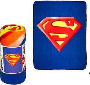 Licensed Superman Shield Super Soft Fleece Throw Blanket 50x60 Inches DC Comics