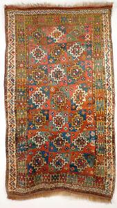 A Beautiful Antique Kurdish Rug from Central Asia, West Turkestan around 1880