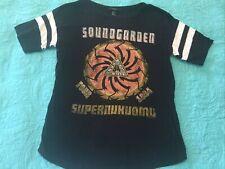 Soundgarden Super Unknown Black Tea White Stripes Size Small Forever 21