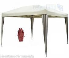 GAZEBO RAPID richiudibile 3 x 3 m ecru PIEGHEVOLE a fisarmonica sabbia beige